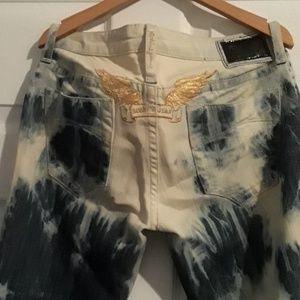 EUC Dark and light denim Robin's jeans